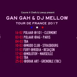 Lowup French Tour 2017 (DJ Mellow & Gan Gah)