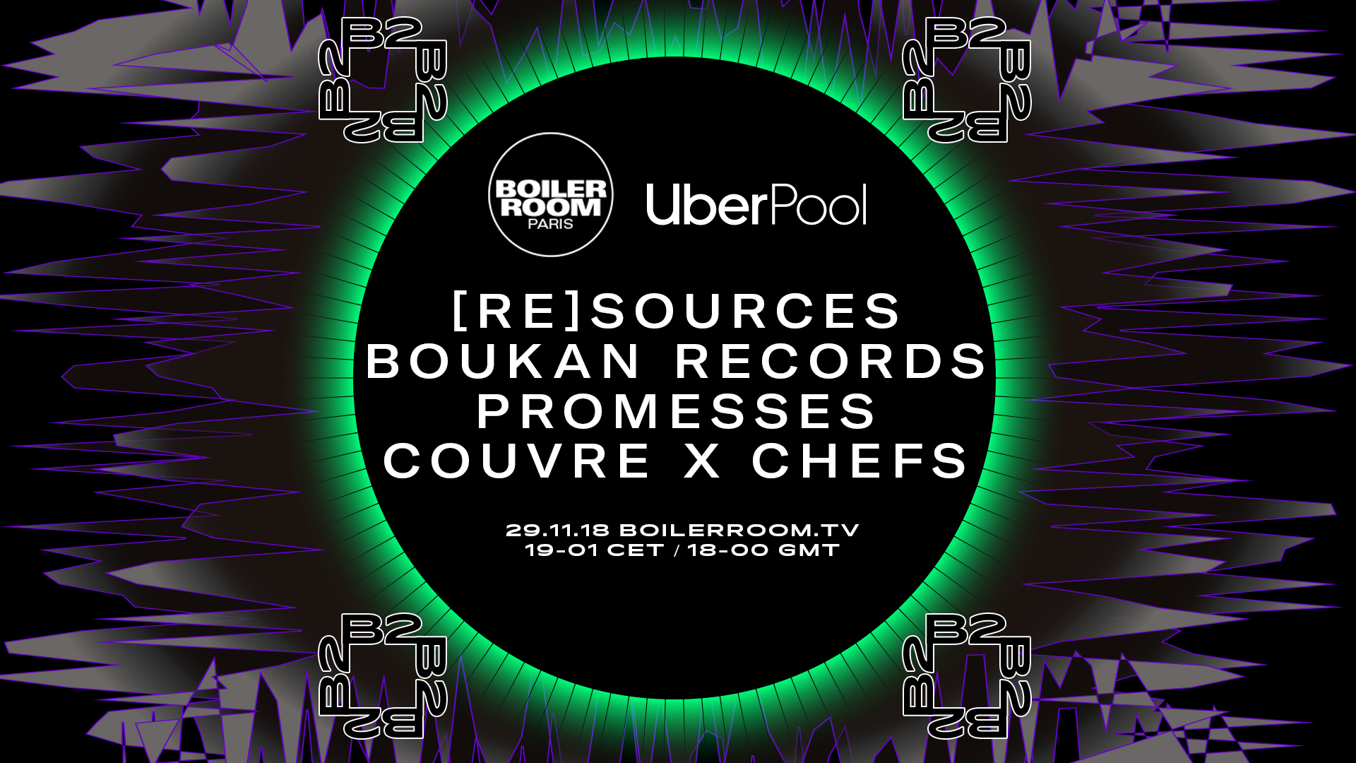 UBER POOL PARIS boiler room couvre x chefs